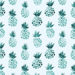 Emerald pineapples ★ watercolor tonal tropical summer design for modern neutral nursery