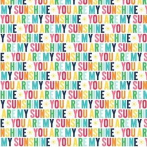 you are my sunshine XSM rainbow with navy UPPERcase
