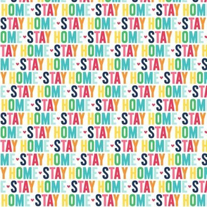 stay home XSM rainbow with navy UPPERcase