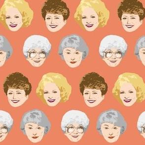 Golden Girls Faces - Medium Coral