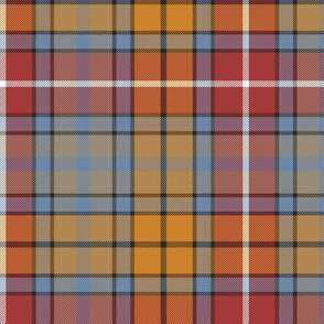 "Buchanan Ancient tartan - 6"" weathered red colors"
