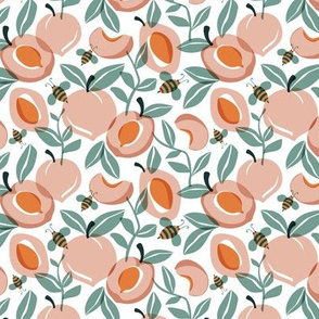 Just Peachy - Summer Fruit and Bees Small Scale
