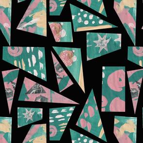 Collage mosaic black