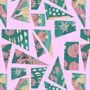 Collage mosaic pink