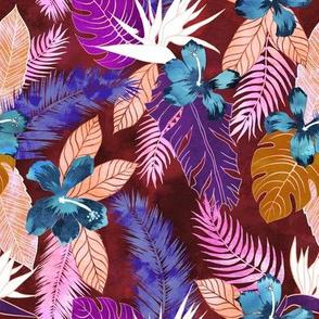 Hawaii Flower 4 maroon