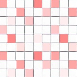 Pink and White Mosaic Tile