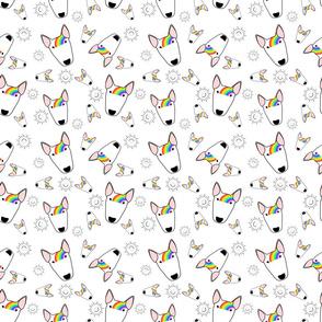 Rainbow Bully Pattern on white
