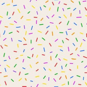 Rainbow sprinkles on French Vanilla
