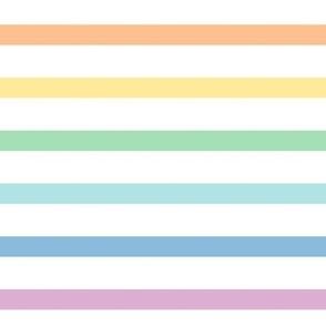 pastel rainbow stripes .5in XXL horizontal