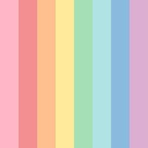 1 inch pastel rainbow stripes 2 XXL vertical