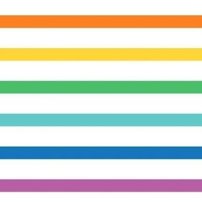 rainbow stripes .5in XXL horizontal