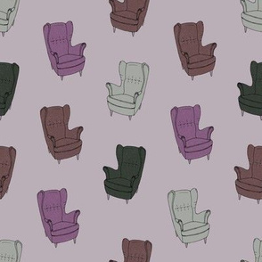 Seventies Armchair Pattern - Version 5 Pink