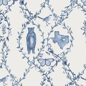 Texas Toile - Blue (Custom)