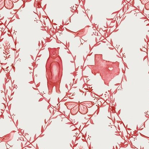 Texas Toile - Red (Custom)