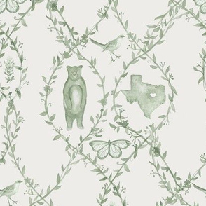 Texas Toile - Sage (Custom)