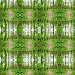 Tree Stripes Spring Green
