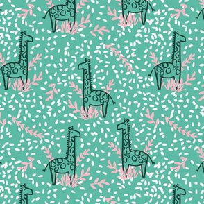 giraffe safari seamless repeat pattern design