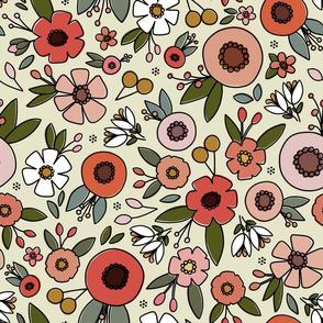 Summer feeling floral - large