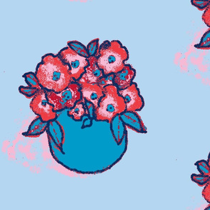 Primroses in a Vase