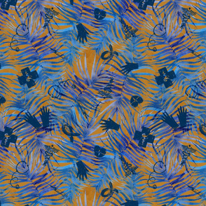"""Call Dr. Summeroff * Healthcare Professionals// Watercolor Blue Palms (terracotta) 12"""""""