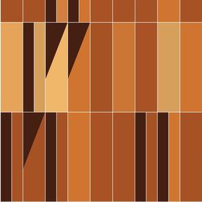 Barcelona stripe - terracotta