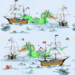 Pirates Battle Dragon