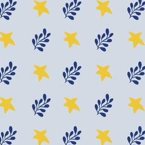 stars plant seamless repeat pattern