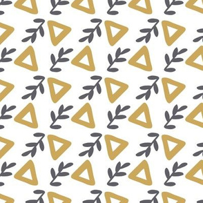 leaves triangle seamless repeat pattern design