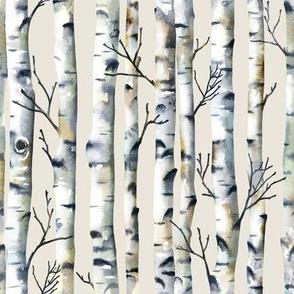Birch Forest / Cream / Small Scale