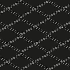 Double stripe cross black and white