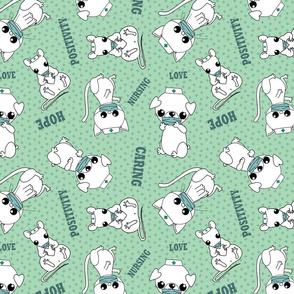 Positive nursing animals -green