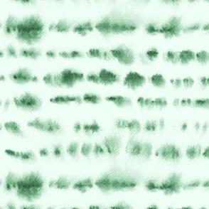 Jade green tie dye - watercolor loose stripes p280