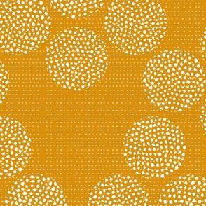 Rustic Dots in Mustard / Big scale