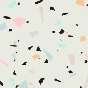 Pastel Terrazzo - Tiny Shapes / Big Scale