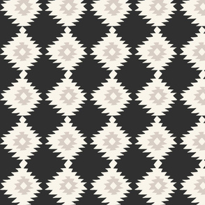 Black Geometric Ikat