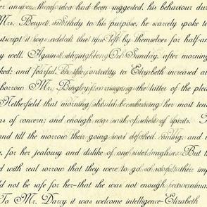 Jane Austen Pride text on distressed cream seamless