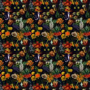 """6"""" Vintage Botanical Springflower Meadow - Black"""