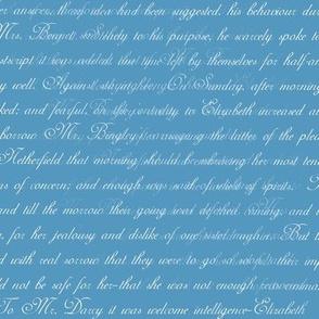 Austen Pride Text white on blue