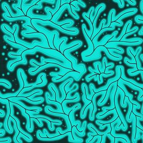 bioluminescent coral