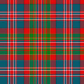 "MacDonald of Boisdale clan tartan, 12"" bright"