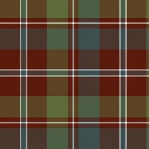"MacDonald of Glenladale tartan, 12"" muted"