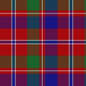 """MacDonald of Glenladale tartan, 12"""" bright"""