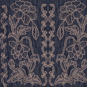 my-tjap116-WARM-TAUPElines-on-DARKBLUE-FABRIC-double-vertical-floral-border-resized-vector-WARMTAUPE-lines-scan-fabric-real-pattern-bkgr-NEW-DARKBLUE-FABRIC-NEW2020