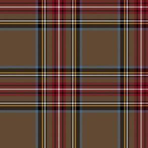 "King George VI / Green Stewart tartan,  worn by Prince Charles, 10"" weathered"