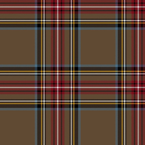 "King George VI / Green Stewart tartan,  10"" - worn by Prince Charles,  weathered colors"
