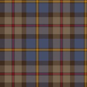 "MacLeod Green or Hunting tartan, 10"", dark weathered"