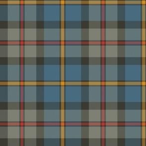 "MacLeod Green or Hunting tartan, 10"", grey weathered"