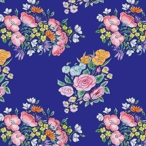 Electric Blue Floral Bunches