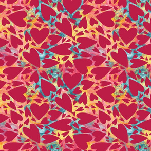 Valentine day pattern with hearts