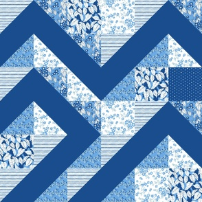blue blooming tree 2 Y cheater quilt